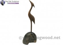 Bog oak Grey Heron by Michael Casey